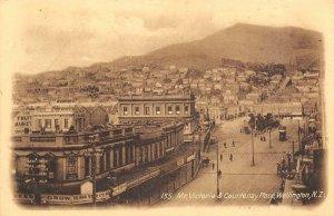 Mt. Victoria & Courtenay Place, Wellington, New Zealand c1920s Vintage Postcard