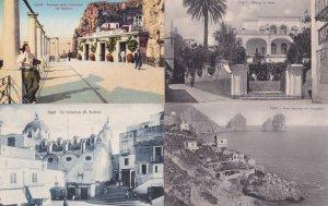 Capri Terrazza Della Funicolare con Spadaro 4x Italy Old Postcard s