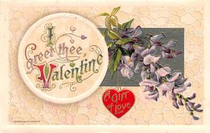 Valentines Day Post Card Old Vintage Antique Postcard Publisher John Winsch 1911