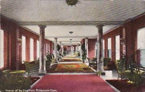 Connecticut Bridgeport Interior Of The Stratfield 1909