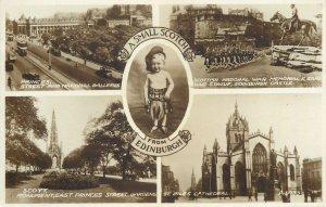 Postcard UK England Edinburgh, Midlothian Scotland kilt