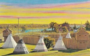 Historic Fort Macleod, first western Headquarters of the Nort West,  Fort Mac...
