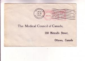 Cover to Medical Council of Canada, Winnipeg 4 Cent Machine Cancel