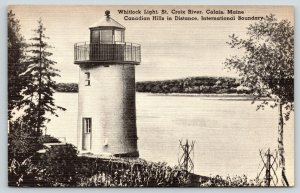 Calais MA~Whitlock Lighthouse~St Croix River~Canadian Hills~Int'l Boundary~1947