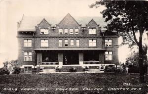 D69/ Yankton South Dakota SD Postcard Real Photo RPPC 1934 Girls Dorm College