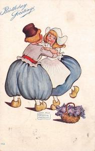 Katharine Gassaway~Dutch Boy Girl Dance~Wooden Shoes~Violets Flower Basket~1907