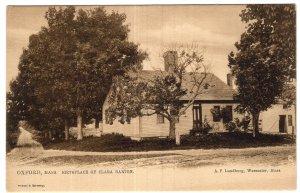 Oxford, Mass, Birthplace Of Clara Barton - Tuck