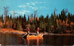 Wisconsin Greetings From Plymouth Fishing Scene 1956