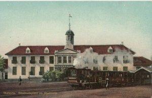 BATAVIA, Indonesia, 1900-1910's; Railroad Station w/ Train