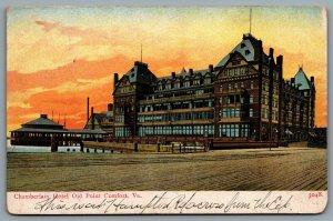 Postcard Old Point Comfort VA c1905 Chamberlin Hotel Boardwalk Hampton