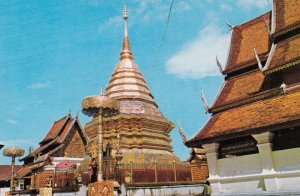 Chedee of Wat Phrathat , Top of Mountain Doi-Suthep , CHIENGMAI , Thailand , ...