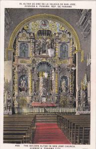 PANAMA, 1900-1910's; The Golden Altar In San Jose Church