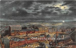 Amusement Park Postcard Post Card Bird's Eye View of Luna Park Coney Isl...