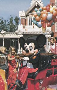Mickey Mouse, Fire Engine Ride, Disneyworld, 40-60's