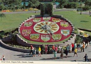 NIAGARA FALLS , Ontario , Canada , 60-80s ; Floral Clock