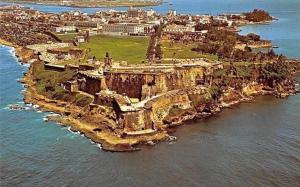 Puerto Rico Aerial view of Morro Castle, San Felipe del Morro Panorama