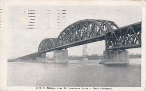 Near MONTREAL, Quebec, Canada, PU-1916; C.P.R.  Bridge Over St. Lawrence River