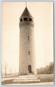 Sackets Harbor LINY~Madison Barracks~Old Stone Water Tower Nearby~RPPC c1910 PC