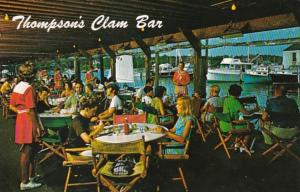 Massachusetts Cape Cod Harwichport Thompson Brothers Clam Bar On Wychmere Harbor