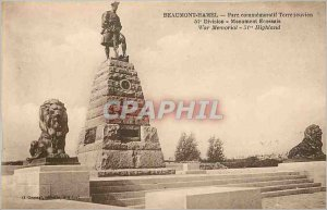 Old Postcard Beaumont Hamel Park Commemorative Newfoundlander 51st Division S...