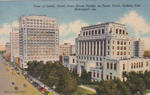 Louisiana Shreveport Caddo Parish Court House Square On Texas Street Looking ...