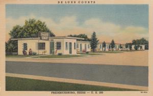 FREDERICKSBURG , Texas, 1930-40s; Deluxe Courts, U.S. 290