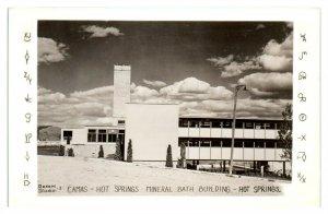 RPPC Camas Hot Springs Mineral Bath Building, Hot Springs MT Real Photo Postcard