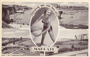 MARGATE, Kent, England, PU-1956; 5-Views, Walpole Bay, Cliftonville, St. Mild...