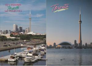 (2 cards) CN Tower - Toronto Ontario, Canada
