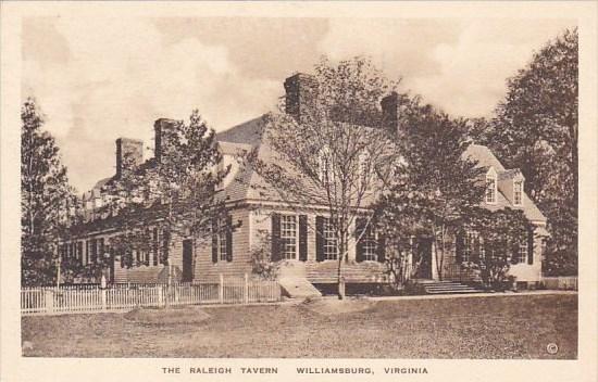 The Raleigh Tavern Williamburg Virginia