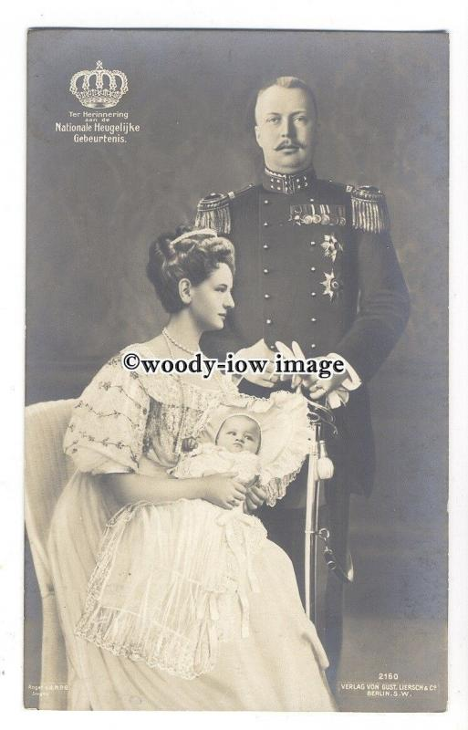 r1792 - King & Queen of The Netherlands with baby Juliana - postcard