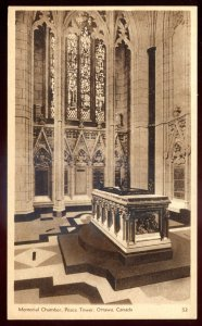 dc1195 - OTTAWA Ontario Postcard 1920s Peace Tower Memorial Chamber