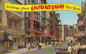 New York City Greetings From Chinatown New York