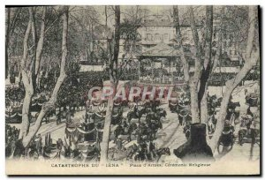 Old Postcard warship Jena Disaster Place d & # 39armes Religious Ceremony