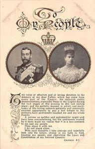 Royalty To My People, King George V, Queen Mary of Teck, Queen consort