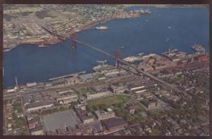 Aerial View Angus MacDonald Bridge Halifax Nova Scotia Dartmouth Postcard