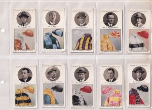 Ogden Horse Race Trainers & Owners Colours Cigarette Card s FULL SET & MORE