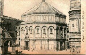 Vintage Postcard Florence Firenze -S. Giovanni Battistero