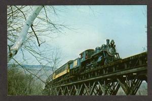 VT View Green Mountain Railroad train 89 Ludlow Vermont RR Postcard PC