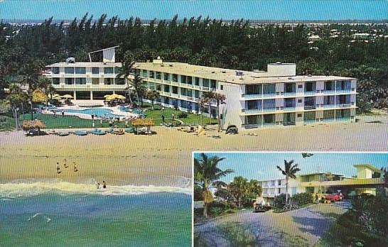 Florida Pompano Beach Sun Castle Club And Motel Hotel With Pool 1964