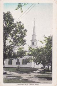 STOW, Massachusetts, 1900-1910's; Unitarian Church