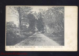 NEWFOUNDLAND PENNSYLVANIA SHADY WALK GREENTOWN PA. OLD