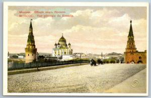 IMPERIAL RUSSIA MOSCOW Panoramic view of the Kremlin Postcard