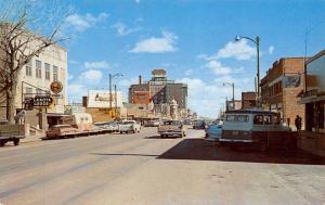 Rapid City SD~Main Street~Lakota Lodge~Rexall Drug~Delivery Van~1950s Cars PC