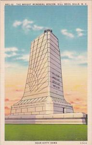 The Wright Memorial Beacon Kill Devil Hill North Carolina 1949