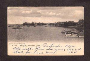 MA The Neck Harbor Marblehead  Cottages Massachusetts UDB Postcard  1905 Mass