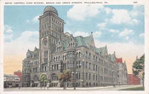 PHILADELPHIA, Pennsylvania, 1900-1910's; Boys' Central High School, Broad And...