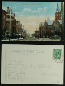Downie Street Stratford  postmarked 1907