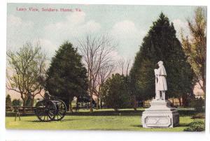 Soldiers Home VA Lawn View Vintage Virginia Postcard