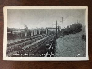Viaduct Over The Lacka, Railroad Train Tracks, Elmhurst, Pennsylvania C3